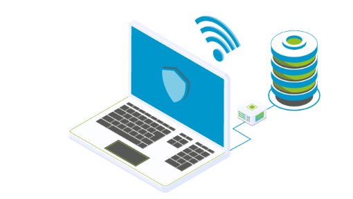 Endgeräte über ein Managed Network via Kabel und WLAN verbunden
