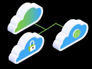Bei der Cloud Transition viele verschiedene Cloud-Systeme mit unterschiedlichen Prozessen kombiniert