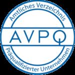AVPQ Präqualifiziertes Unternehmen